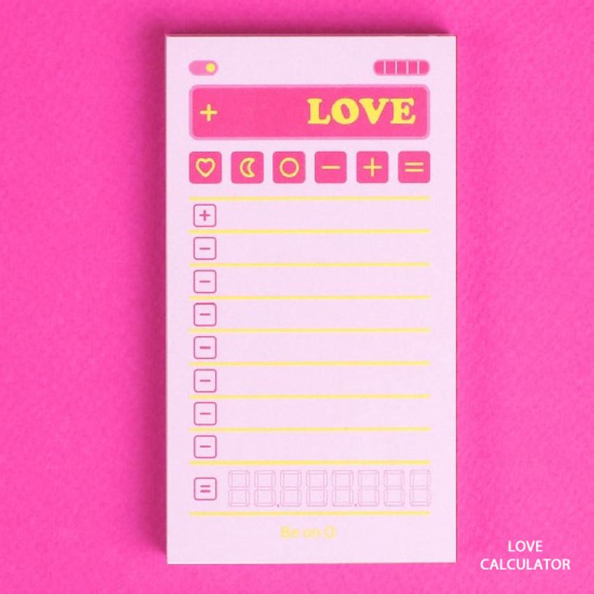 Love calculator - After The Rain Retro plain memo notepad
