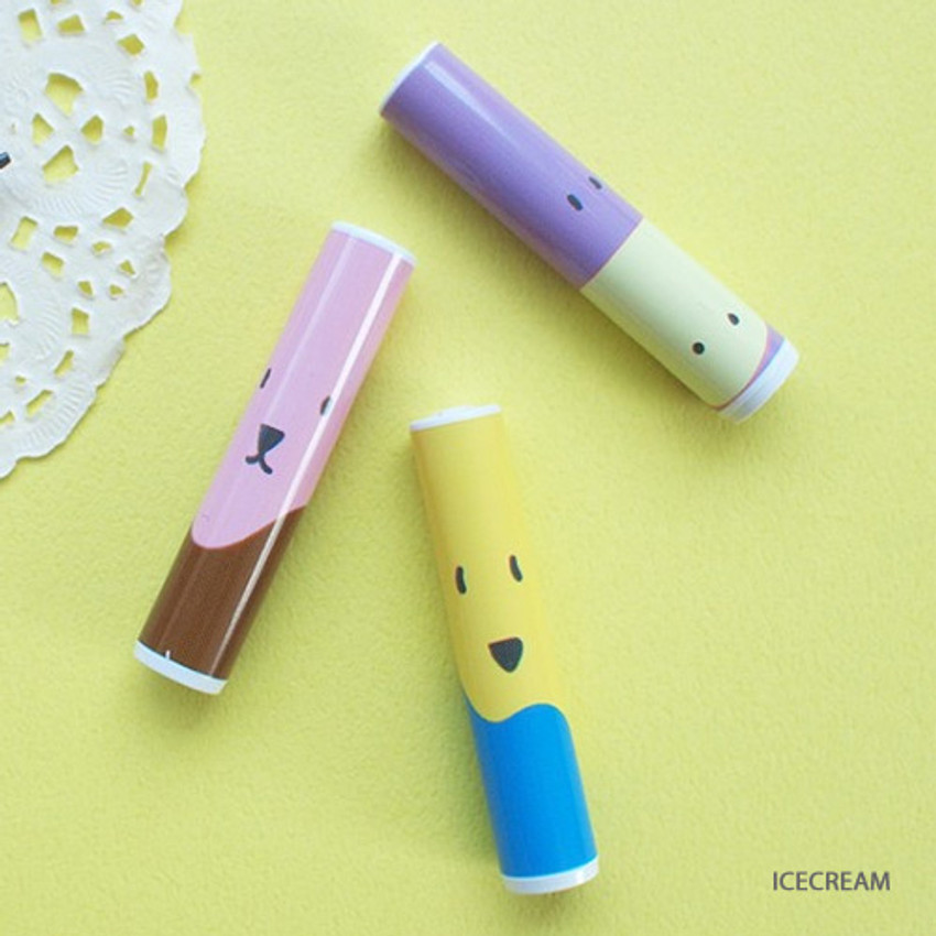 Ice cream - Hello Today Design pencil cap set