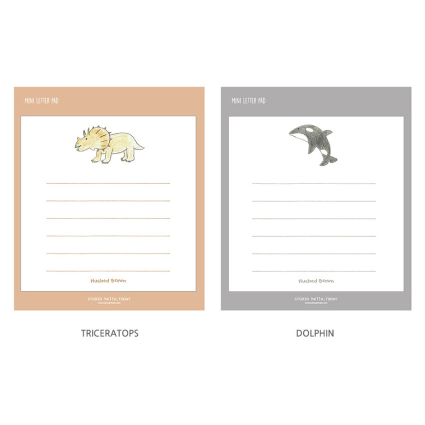 Option - Hello Today Hushed brown small lined memo notepad