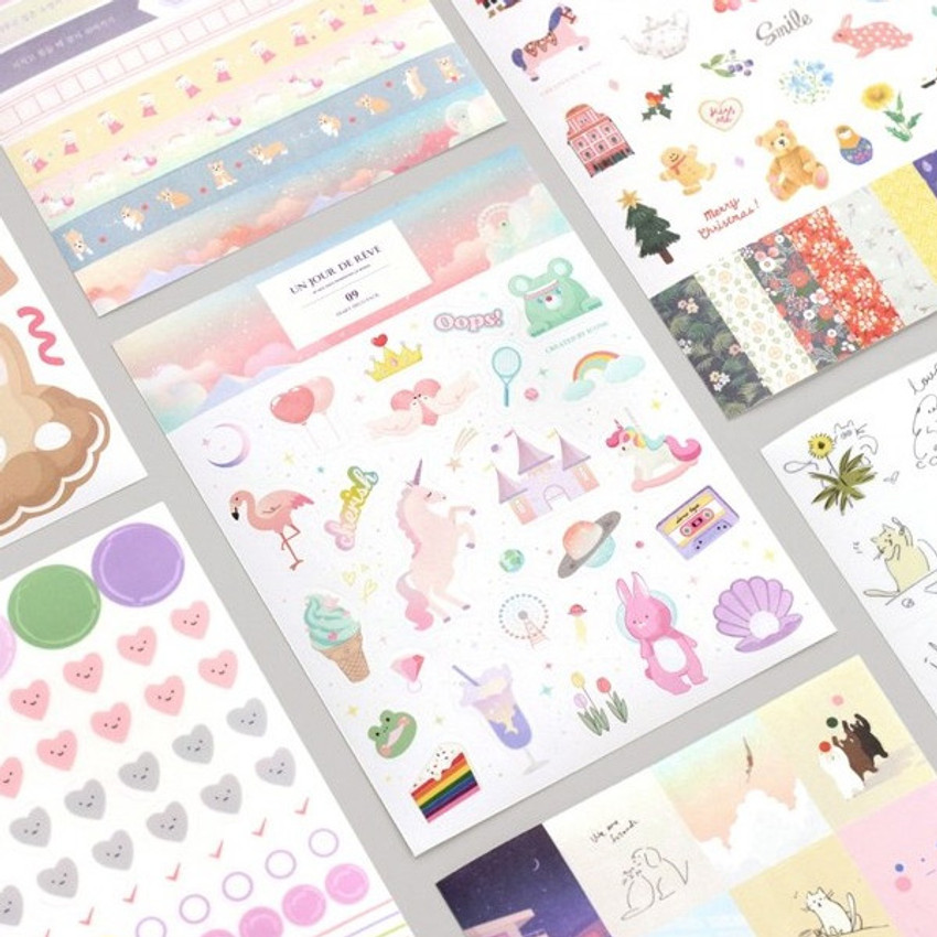 ICONIC Diary deco sticker 9 sheets in one set ver9