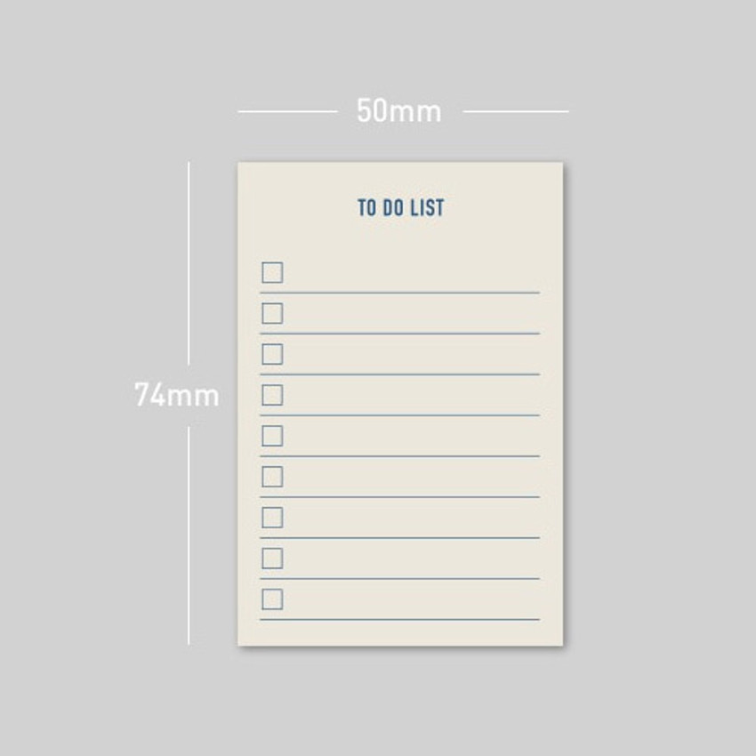 Size - PAPERIAN Make a memo sticky notepad
