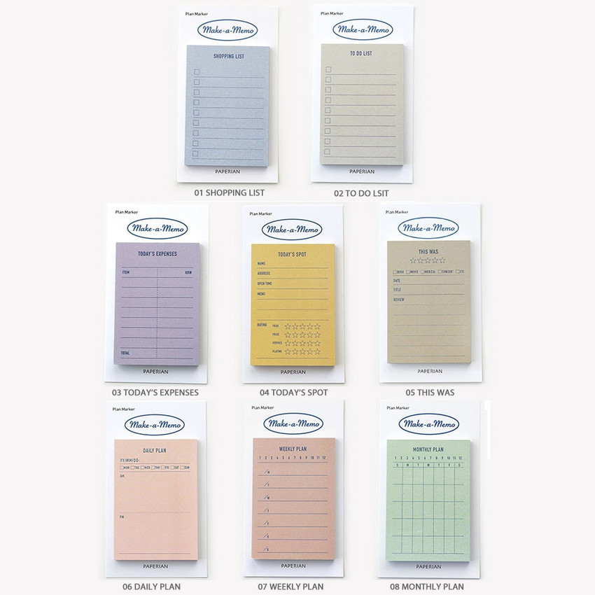 Option - PAPERIAN Make a memo sticky notepad
