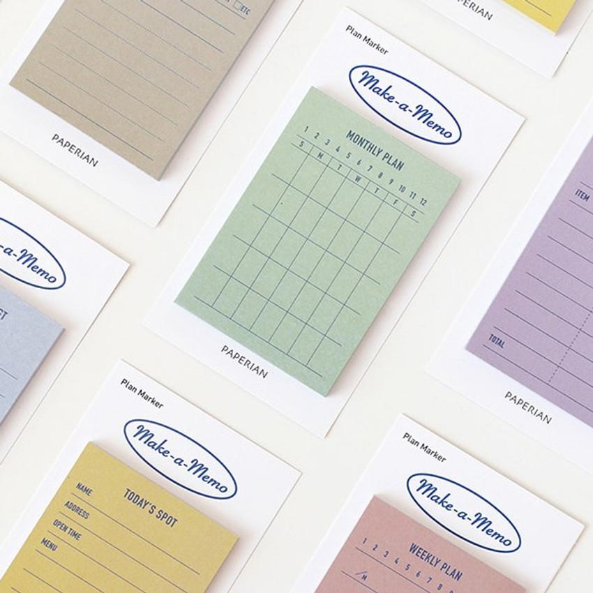 Make a memo sticky notepad