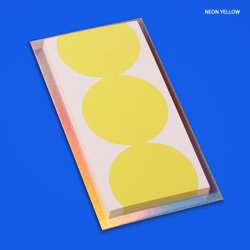 Neon yellow - Lucalab Neon three dots plain notepad