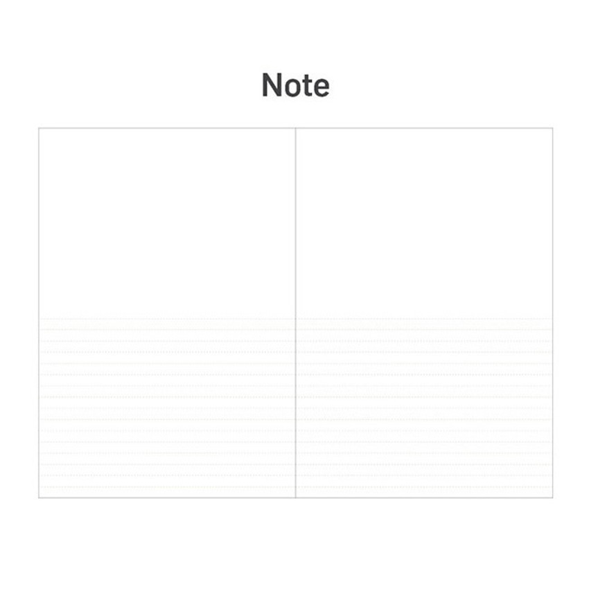 Note - 12 months dateless weekly diary planner