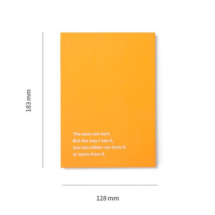Size - Lucalab 12 months dateless weekly diary planner