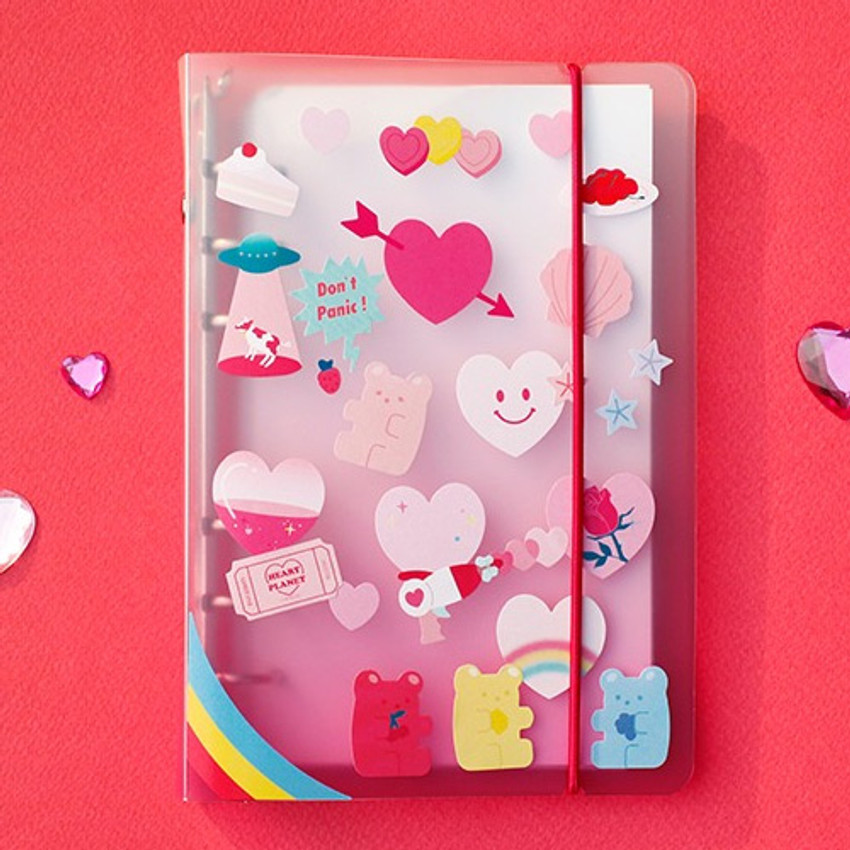 Example of use - Love and peace paper deco sticker