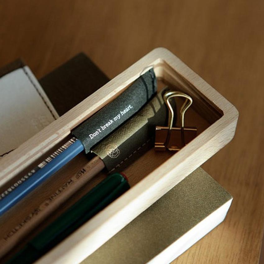 Example of use - Dear denim tag paper pencil cap set