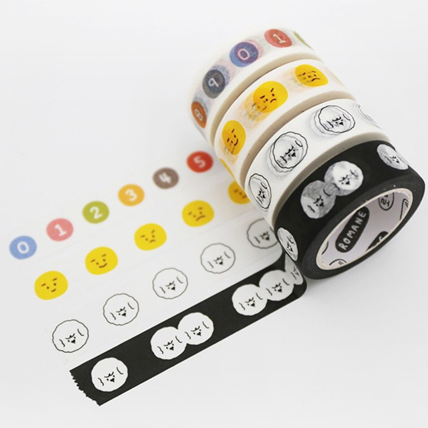 ROMANE My rolly Washi paper 15mm X 10m deco masking tape