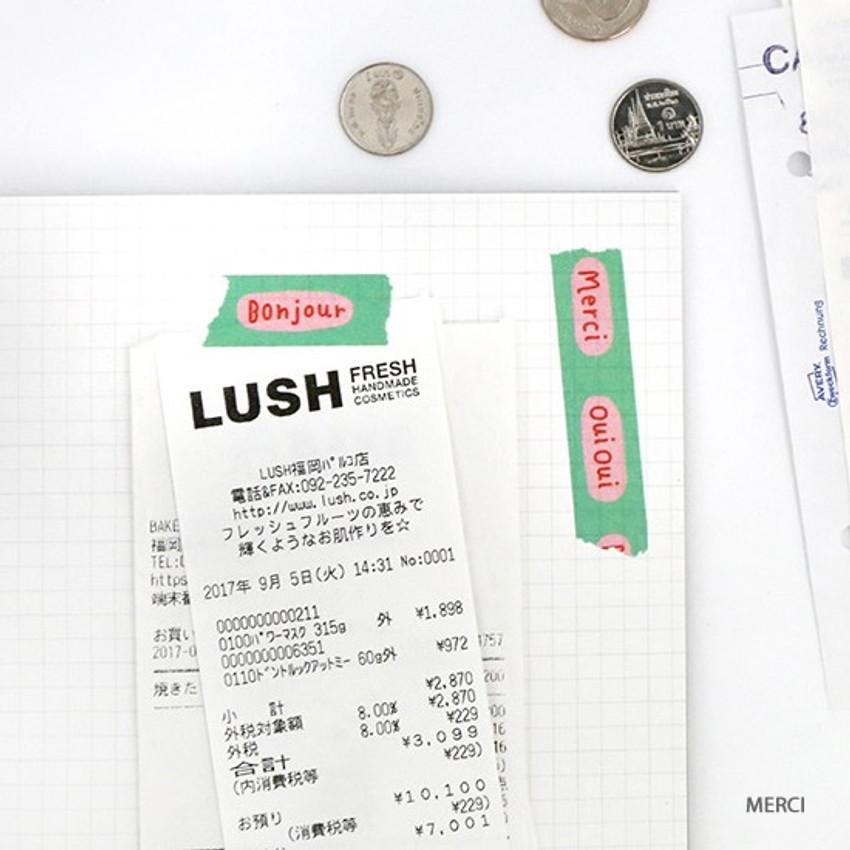 Merci - Brunch Brother washi paper deco masking tape