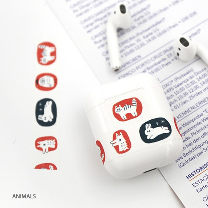 Animals - Brunch Brother washi paper deco masking tape