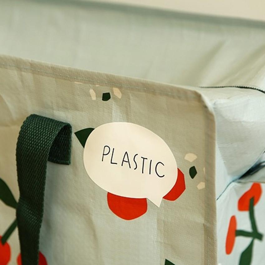 Example of use - Dailylike Speech bubble name label sticker