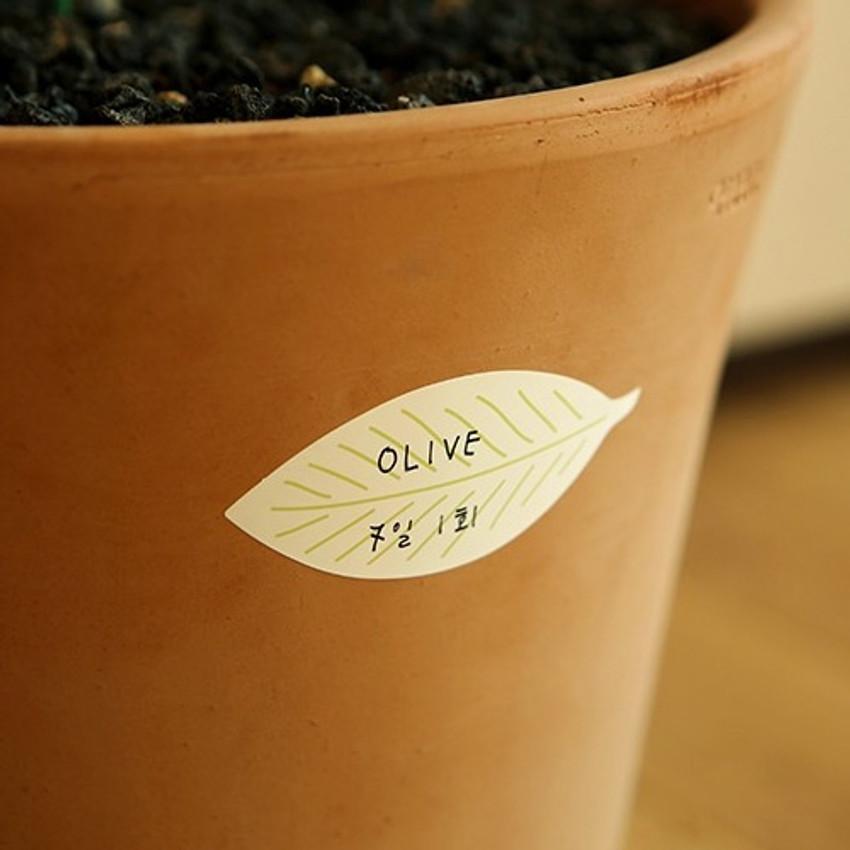 Example of use - Dailylike Leaf name tag label sticker set