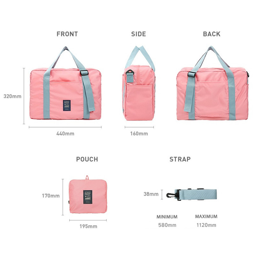 Size - Easy carry small travel foldable duffle bag
