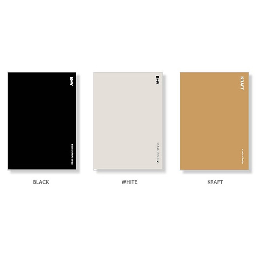 Color - Ardium B+W kraft hardcover lined notebook
