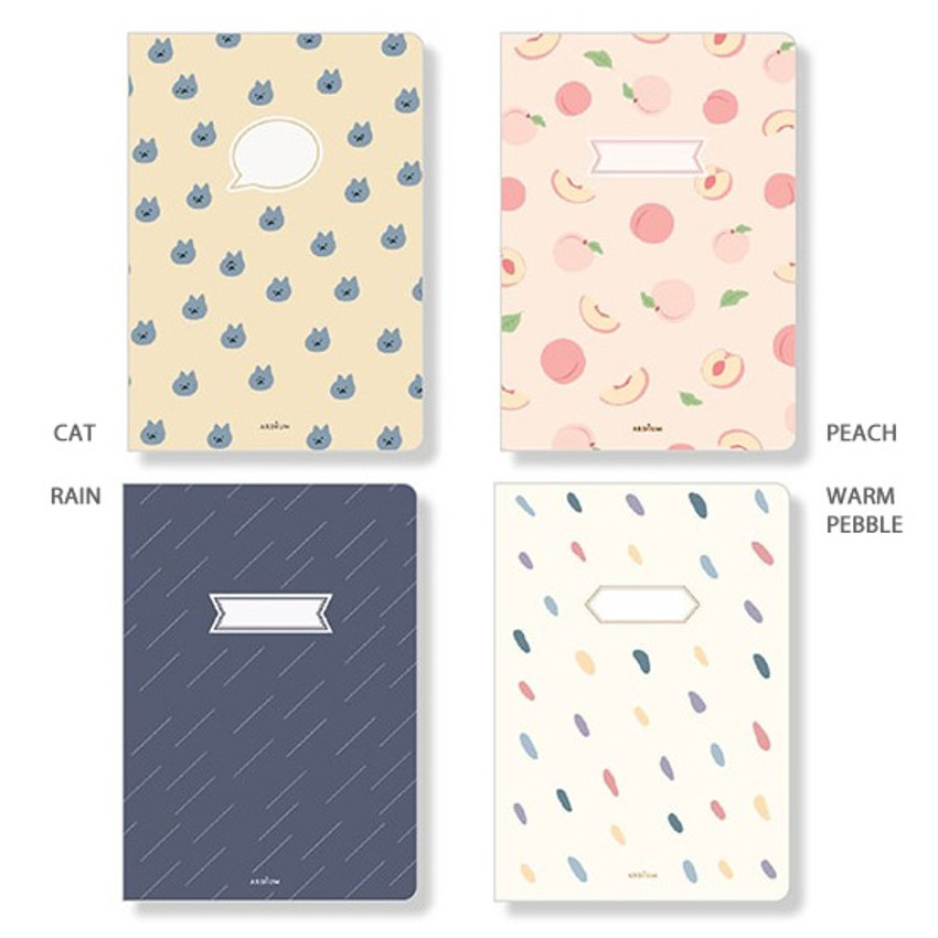 Option - Ardium Soft pattern large lined school notebook
