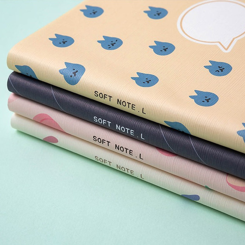 Cute cover - Ardium Soft pattern large lined school notebook