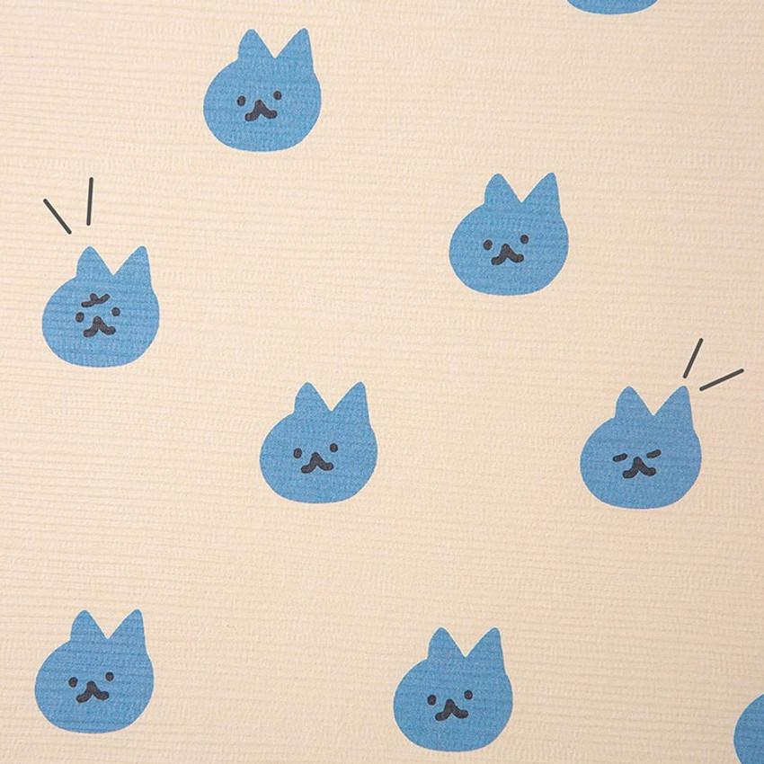 Cute illustration pattern - Soft pattern large lined school notebook