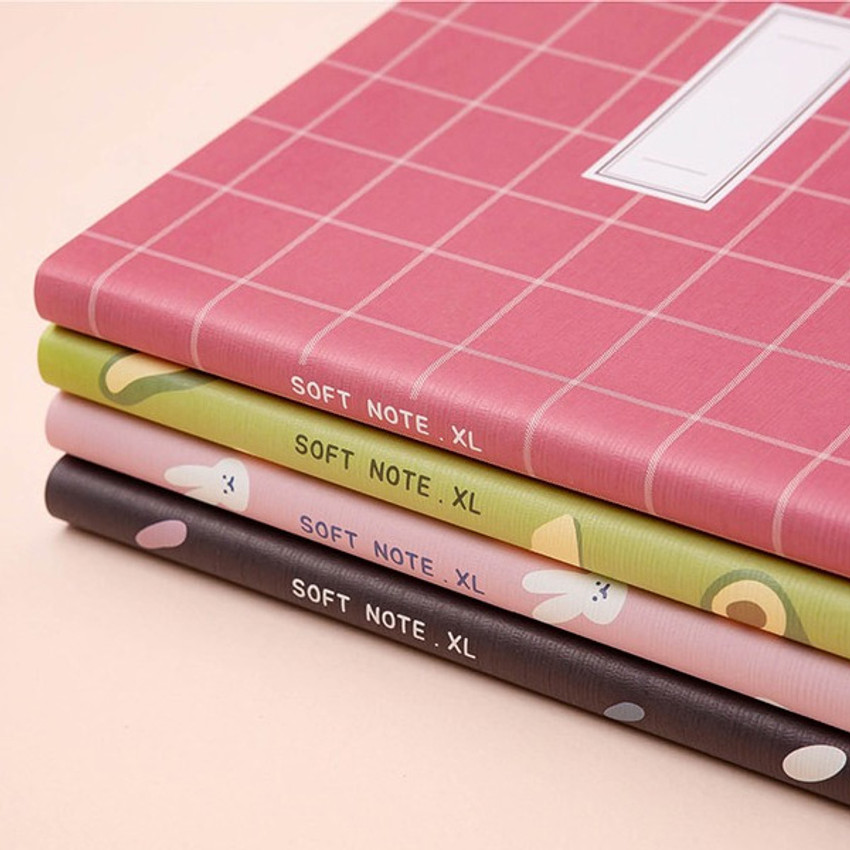 Cute notebook - Soft pattern extra large lined school notebook