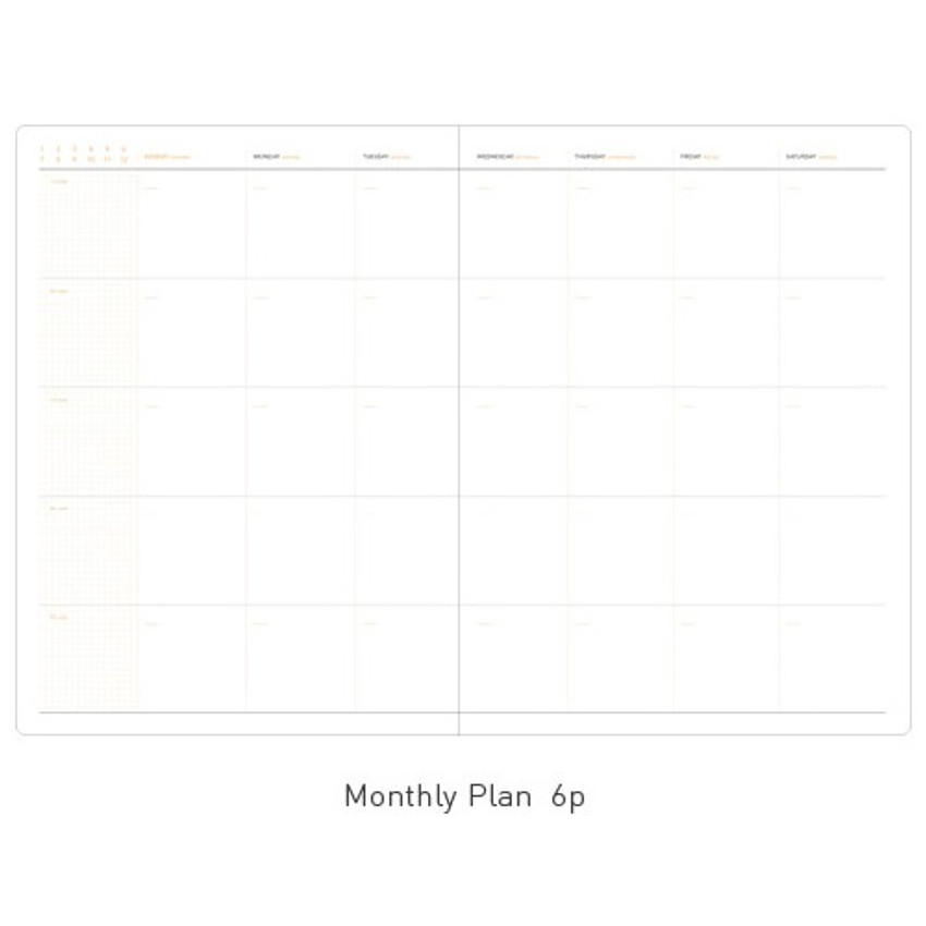 Monthly plan - Business 3 months dateless daily planner ver3
