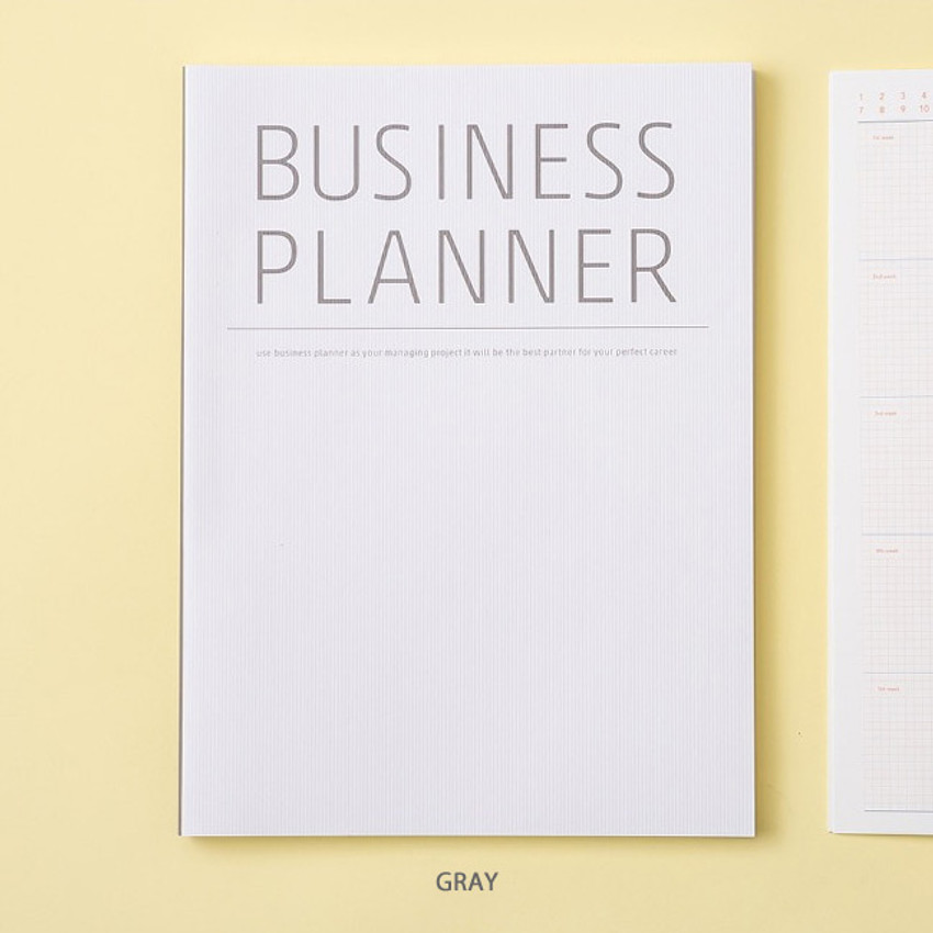 Gray - Ardium Business 3 months dateless daily planner ver3