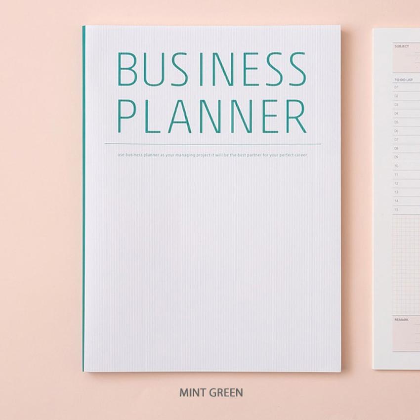 Mint green - Ardium Business 3 months dateless daily planner ver3