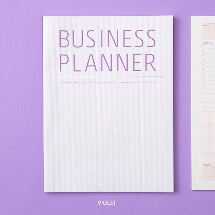 Violet - Ardium Business 3 months dateless daily planner ver3