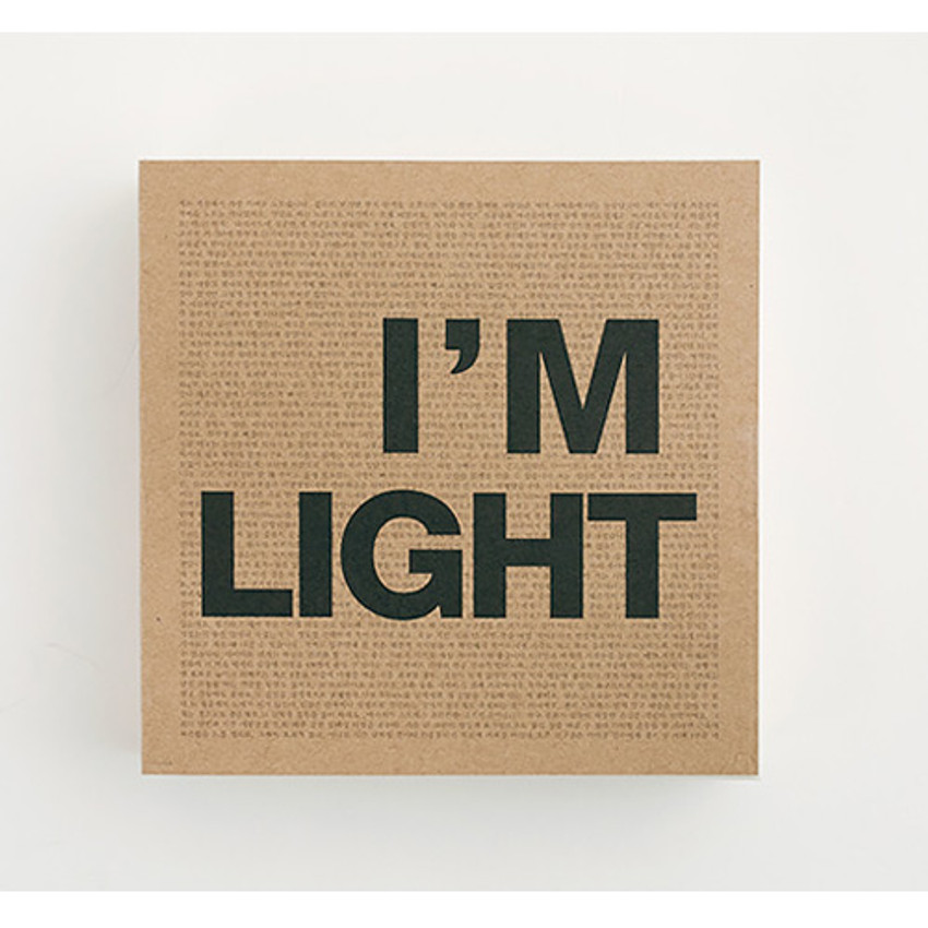 Front - I'm Light small plain notebook
