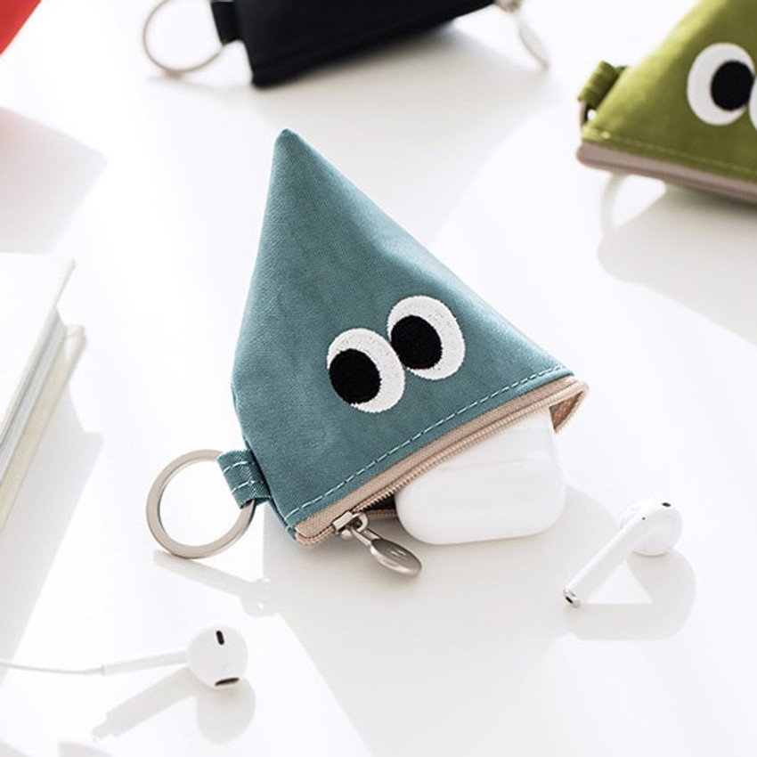 Livework Som Som stitch earphone small zipper pouch