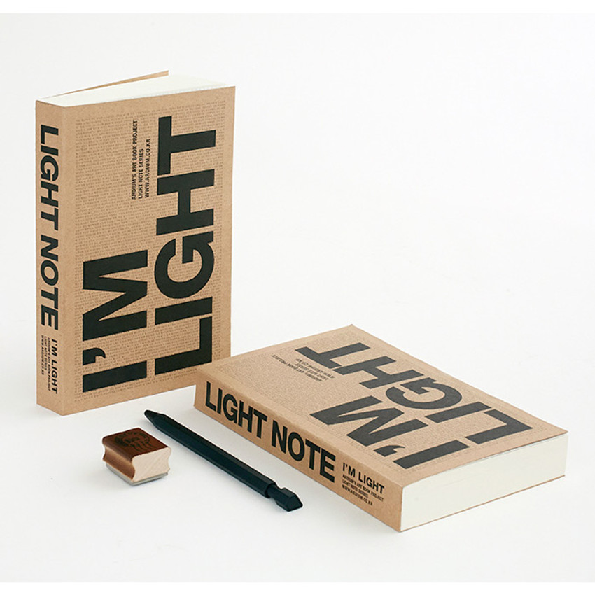 I'm Light handy plain notebook