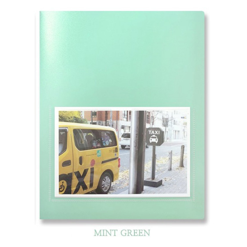 Mint green - 2young Pastel 4X6 slip in 160 pockets photo album