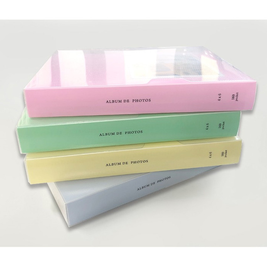 PP cover - 2young Pastel 4X6 slip in 160 pockets photo album