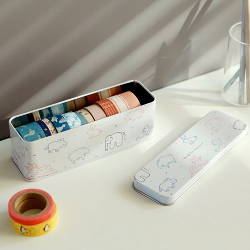 Dailylike Doodling metal rectangular tin case box