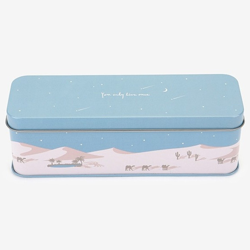 Dailylike Desert metal storage rectangular tin case box