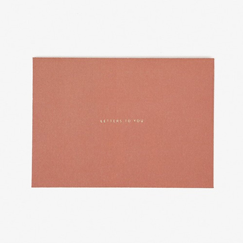 envelope - Dailylike Daily letter paper and envelope set - Plain apple