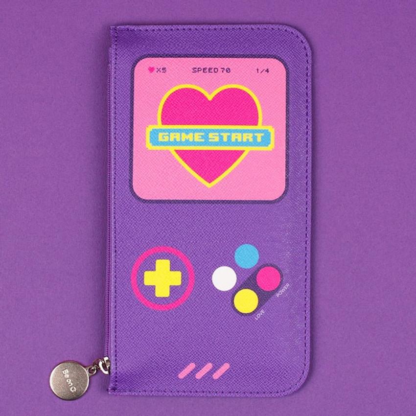 Retro game - After The Rain Retro PU flat zipper pouch