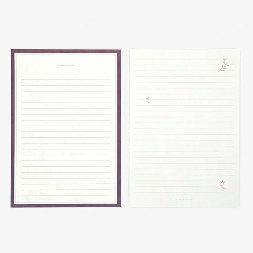 Letter  - Daily letter paper and envelope set - Sandersonia