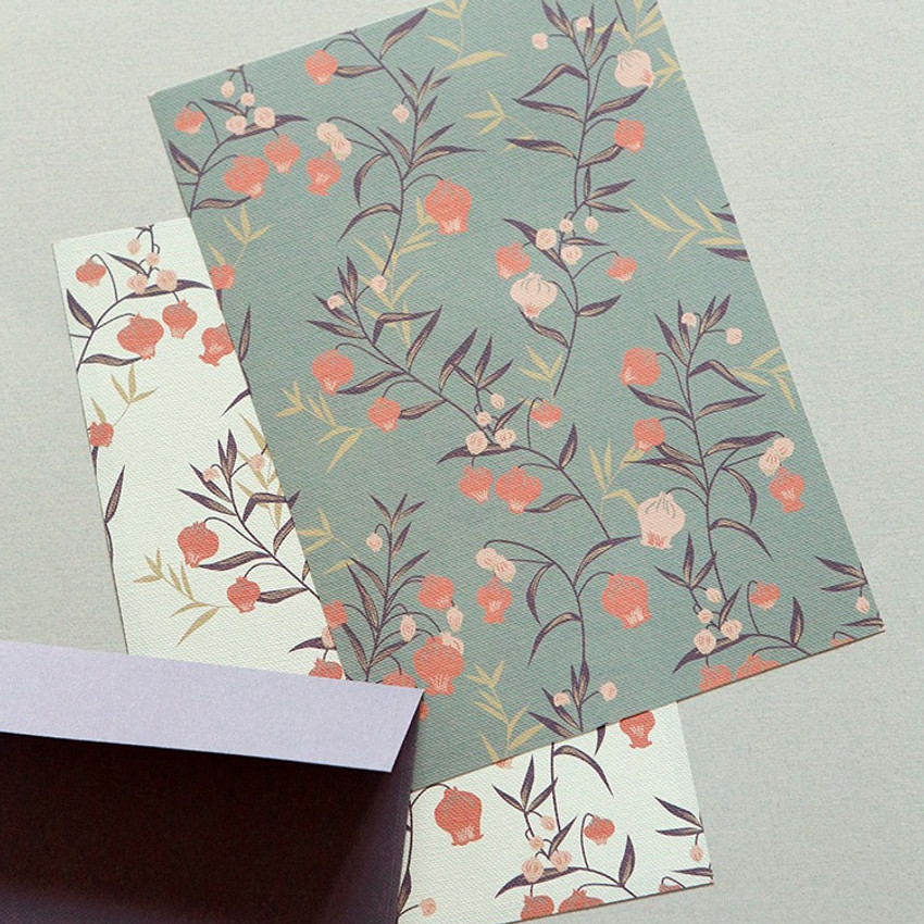 Dailylike Daily letter paper and envelope set - Sandersonia