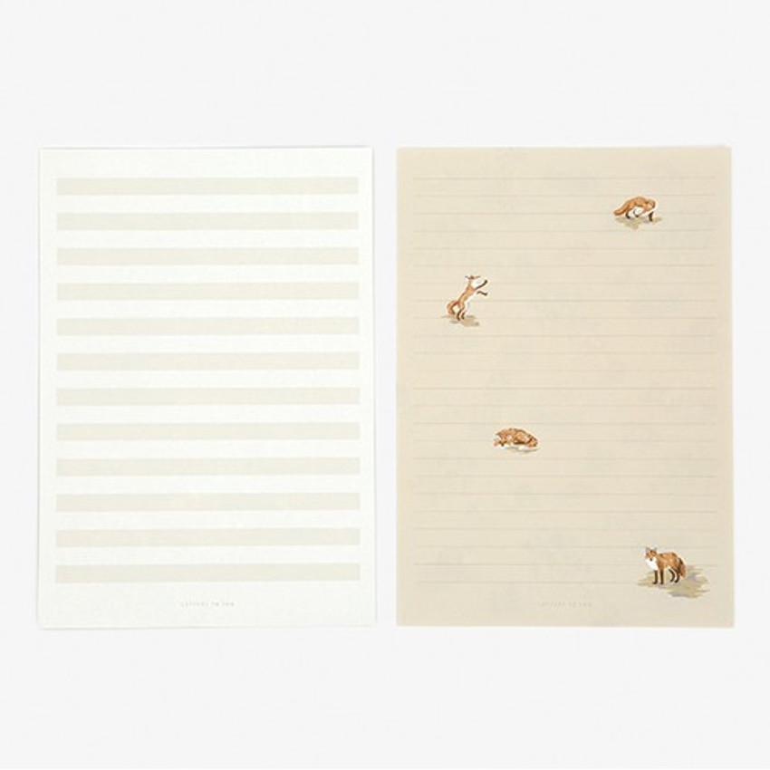 Letter - Daily letter paper and envelope set - The fox and the grapes