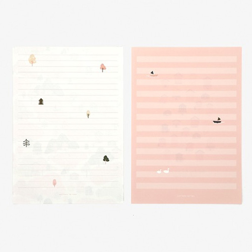Letter - Daily letter paper and envelope set - Home
