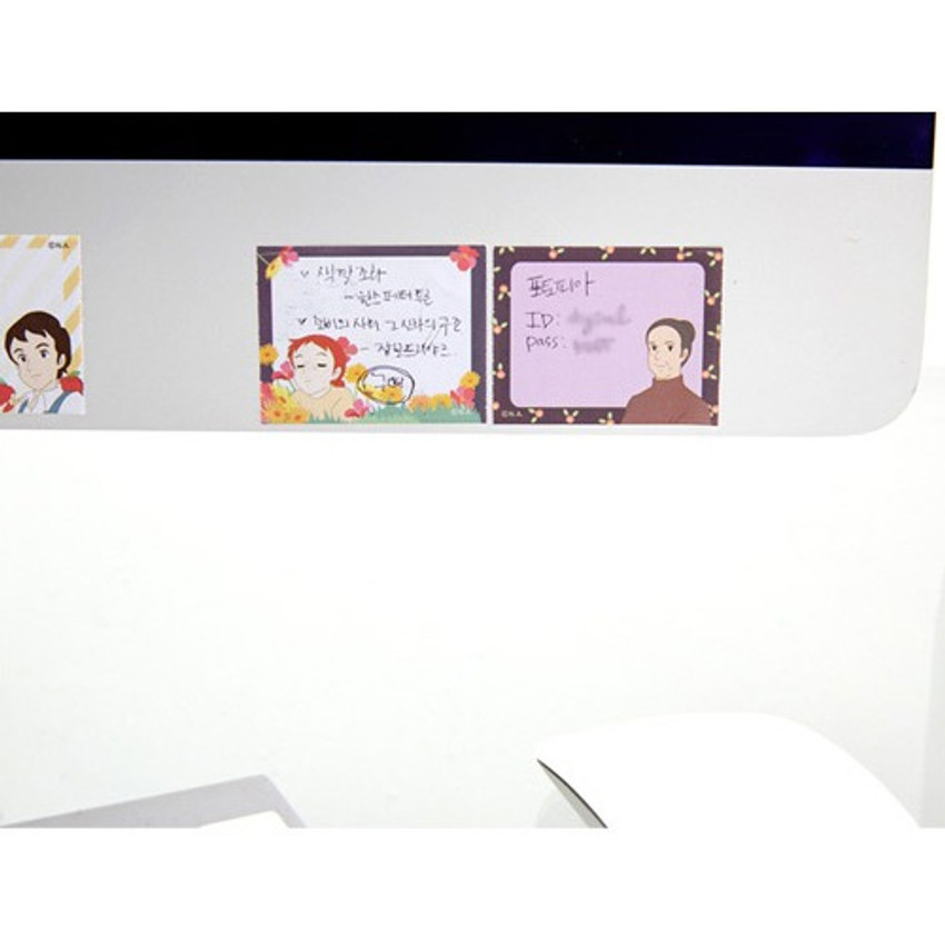 Example of use - Anne of green gables single roll sticky memo note tape