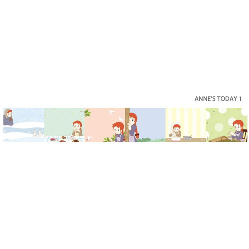 Anne's today 1 - Anne of green gables single roll sticky memo note tape