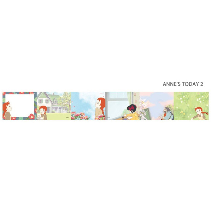 Anne's today 2 - Anne of green gables single roll sticky memo note tape