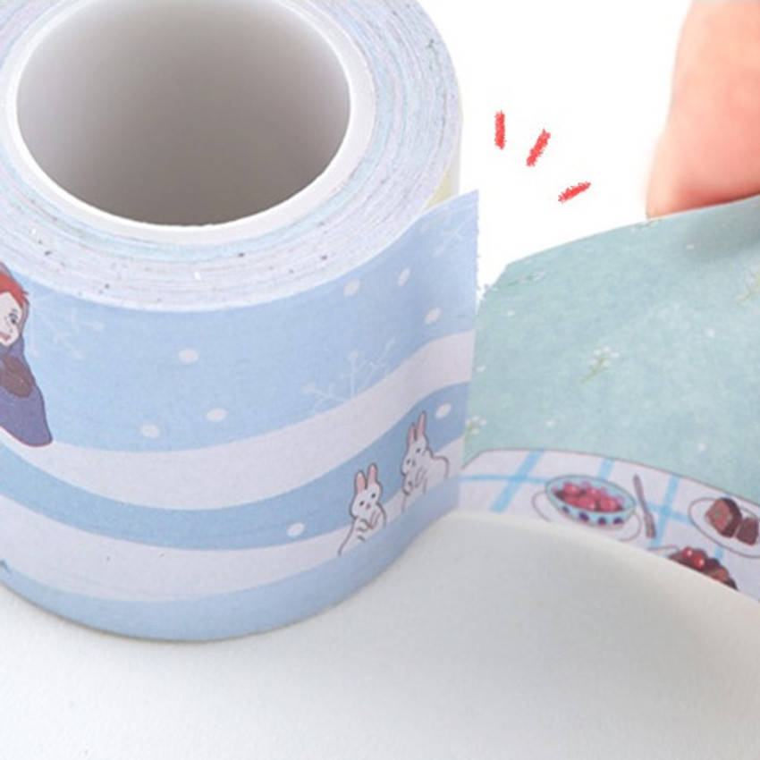 Easy tear off - Flying Whales Anne of green gables single roll sticky memo note tape