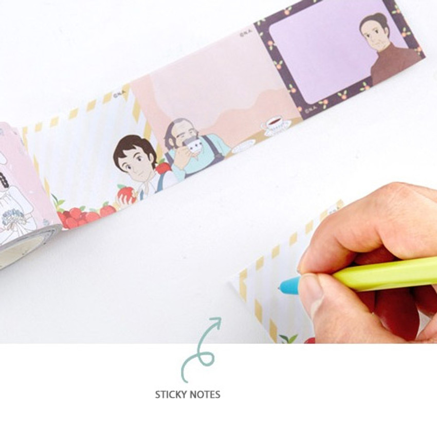 Sticky notes - Anne of green gables single roll sticky memo note tape