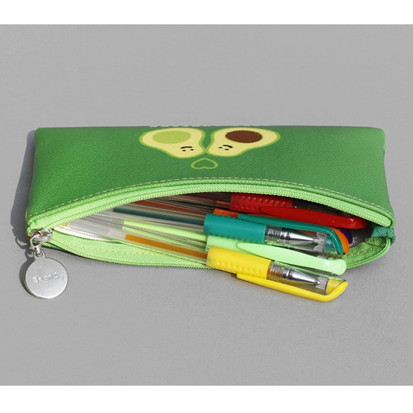 After The Rain Fruit PU flat zipper pencil case pouch