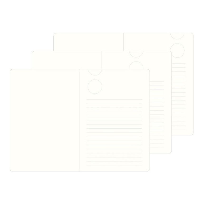 3 type inner page - The way of expressing blank and lined notebook