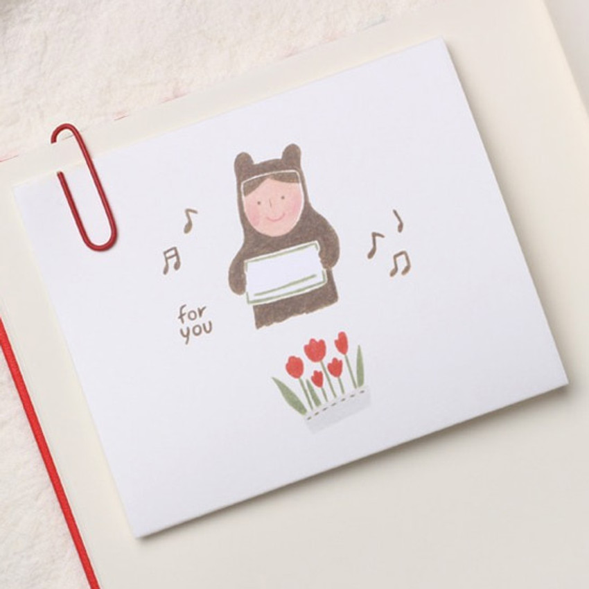 Example of use - Thanks folded letter card envelope set
