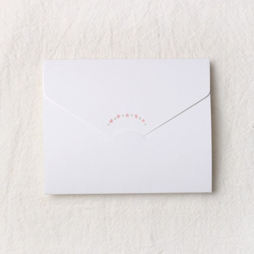 How to use - Thanks folded letter card envelope set