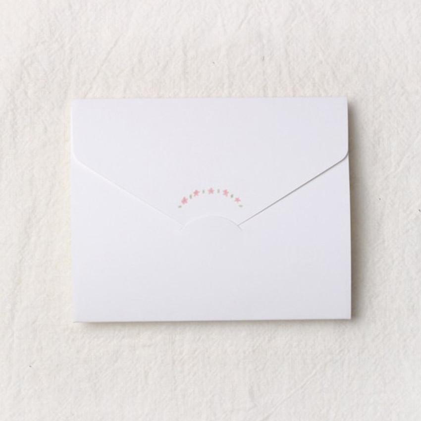 How to use - Thanks folded letter card envelope set